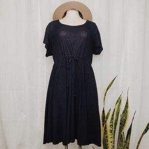 • TORRID • navy blue cotton ribbed dress